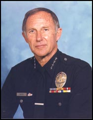 LAPD Police Chief Daryl F. Gates