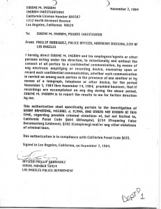 Illegal Authorization 7 November 1992